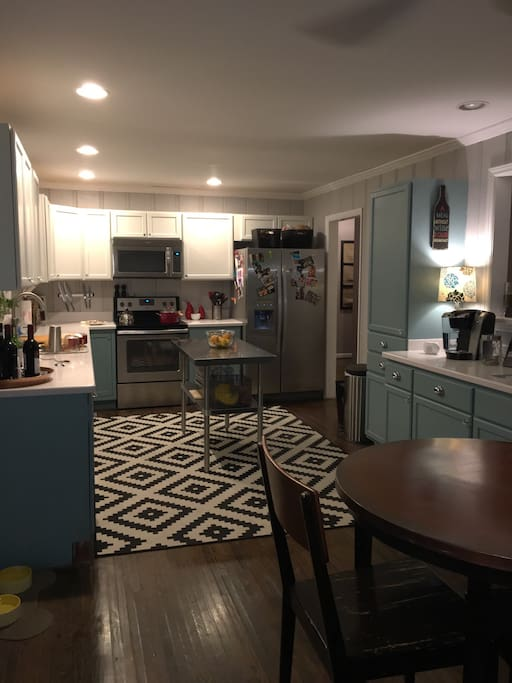 Kitchen with small bar table