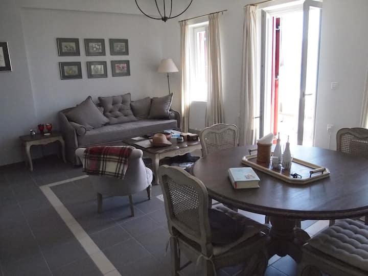 Elegant maisonette with sea view - Molyvos, Lesvos