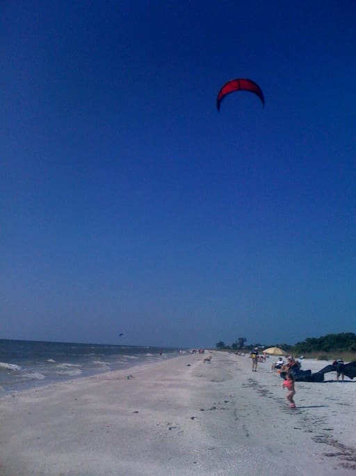 Our Sanibel neighborhood beach