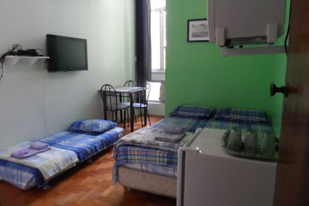 Cosy and quiet room in my apartment, family environment, between Copacabana, Ipanema and Arpoador. Easy 5 minute walk to both beaches from the apartment. With many places to eat walking distance from the apartment. Public transportation to all city.