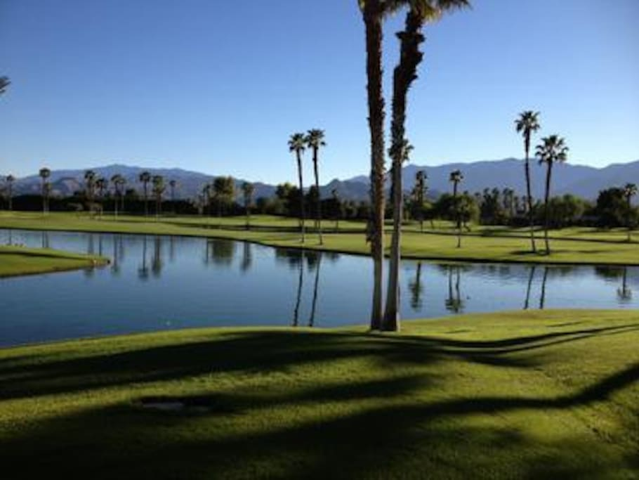 The 27 Hole Golf Course View from Closest Pool
