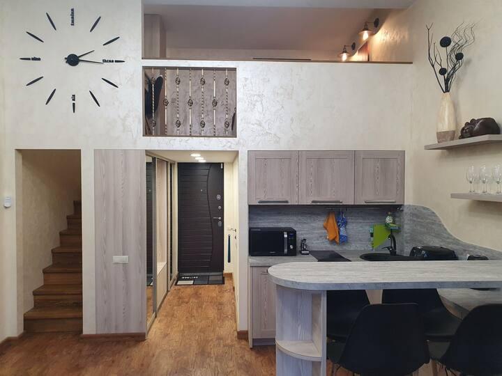 Двухуровневая квартира-студия в Красной Поляне