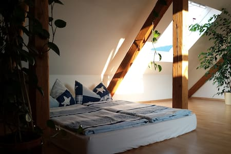 Sunny place in an historic attic
