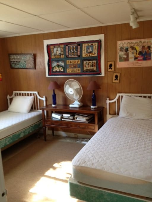 Your room with two twin beds