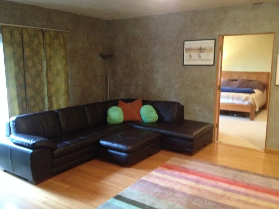 Big comfortable couch.