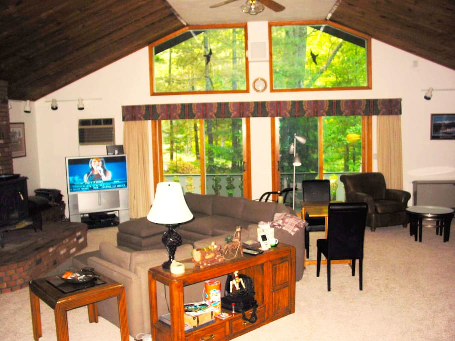 Storyland chalet vacation rental home has an open floor plan w/2500 SF living area