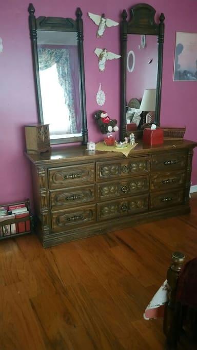 Dresser  area in room