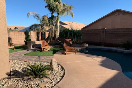 Desert oasis home with pool in Surprise