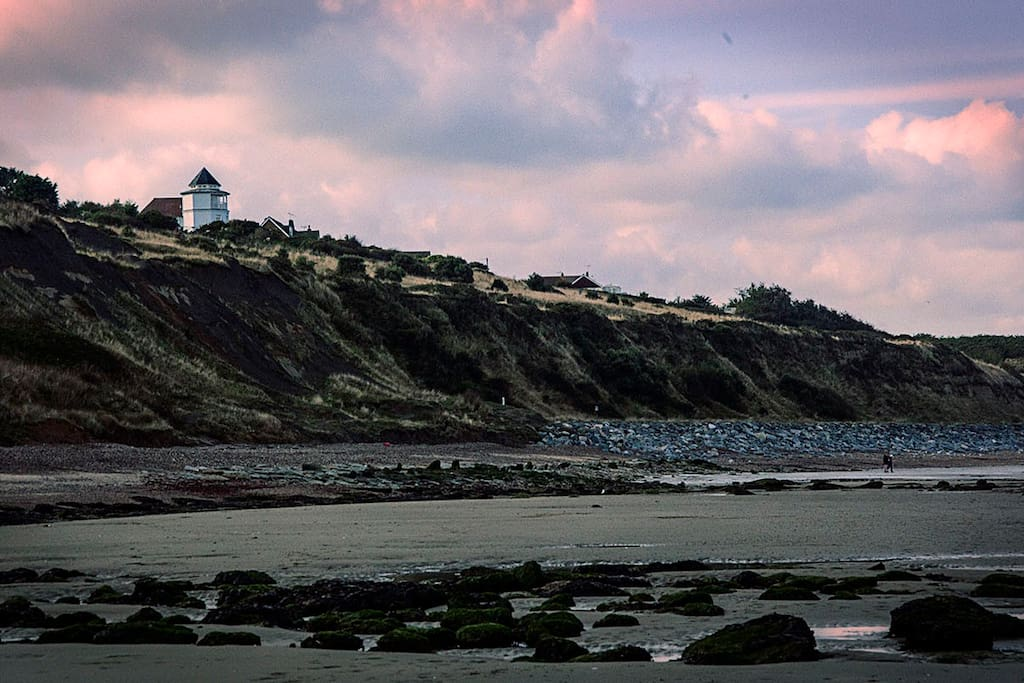 The Lighthouse as seen from Reculver beach.