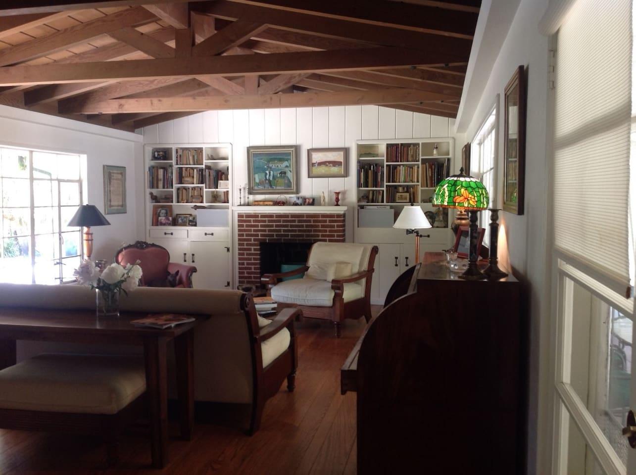 Living room: California ranch style circa 1948