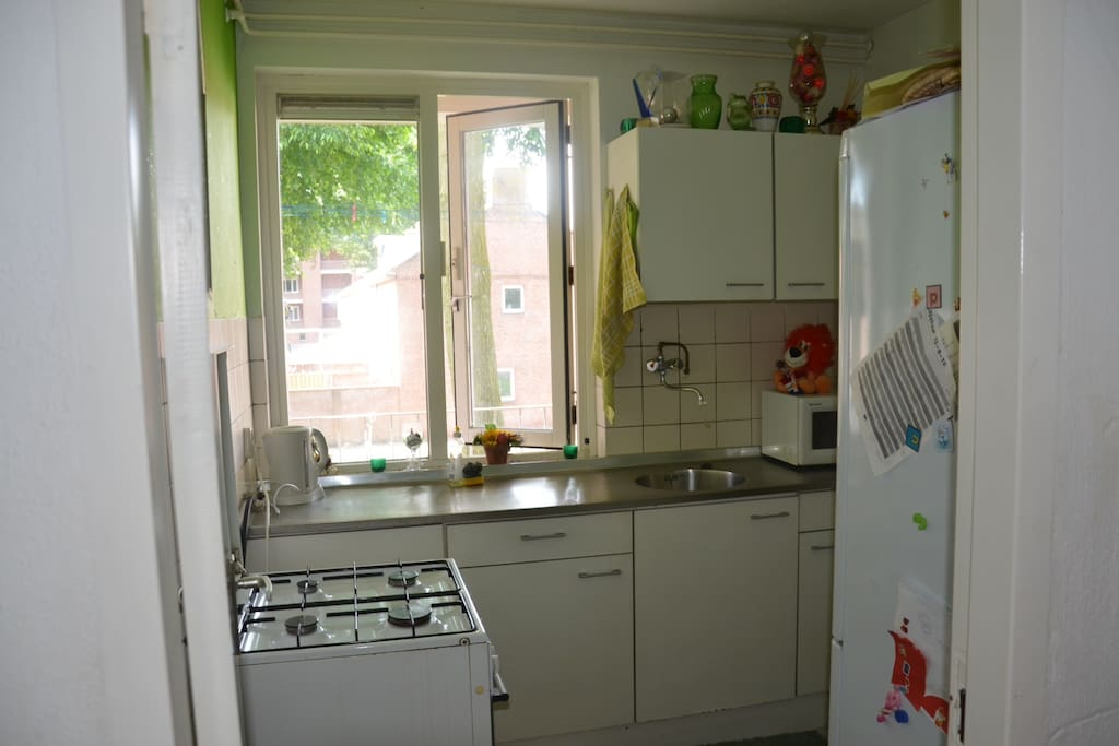 Kitchen space with cooker