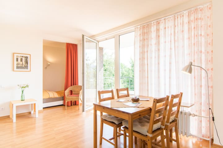 Bright, wifi, balcony, near Rhine! - Dusseldorf
