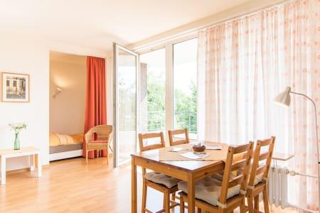 Bright, wifi, balcony, near Rhine! - Dusseldorf - Apartemen