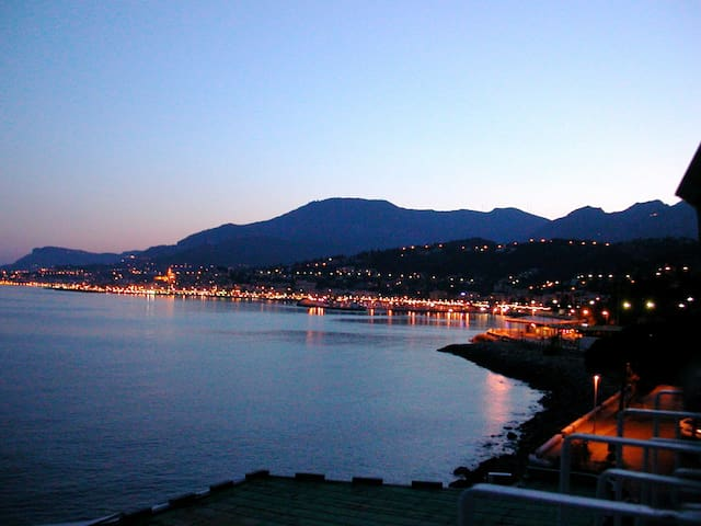 Panoramic view on the bay of Menton - Ventimiglia