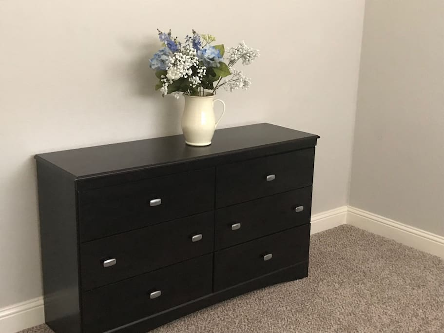 Ample dresser storage space