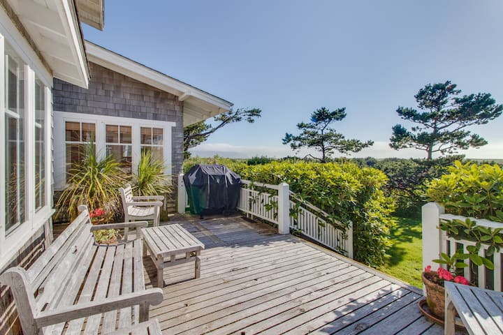 Spacious, waterfront home w/ expansive deck & modern comforts - steps to beach!