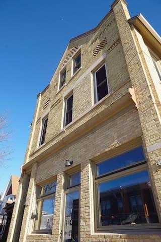 Traditional Cream City brick building is classic Milwaukee