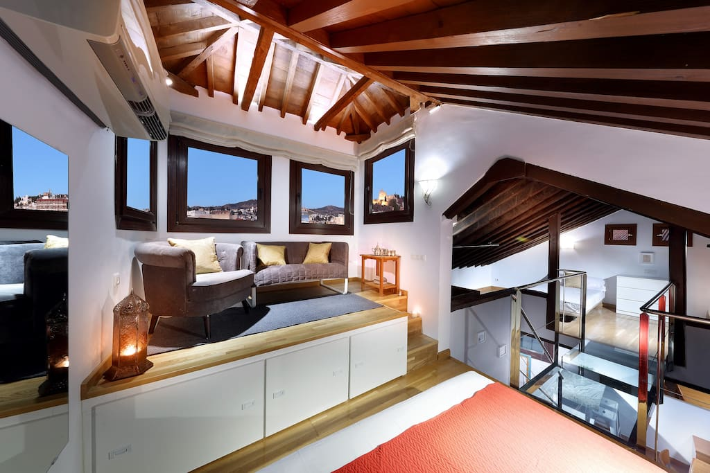 Top floor, with views of the Alhambra.