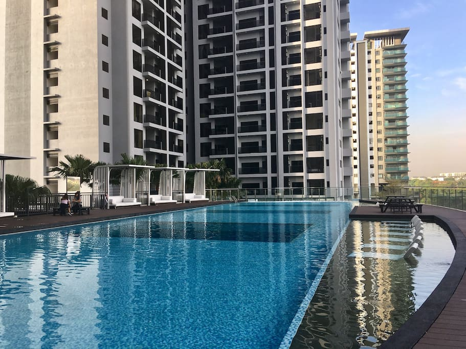 Infinity swimming pool  - day view