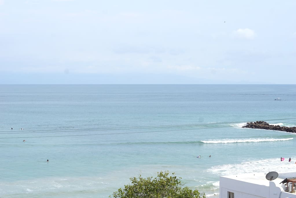 Great view of the surf from the private balcony