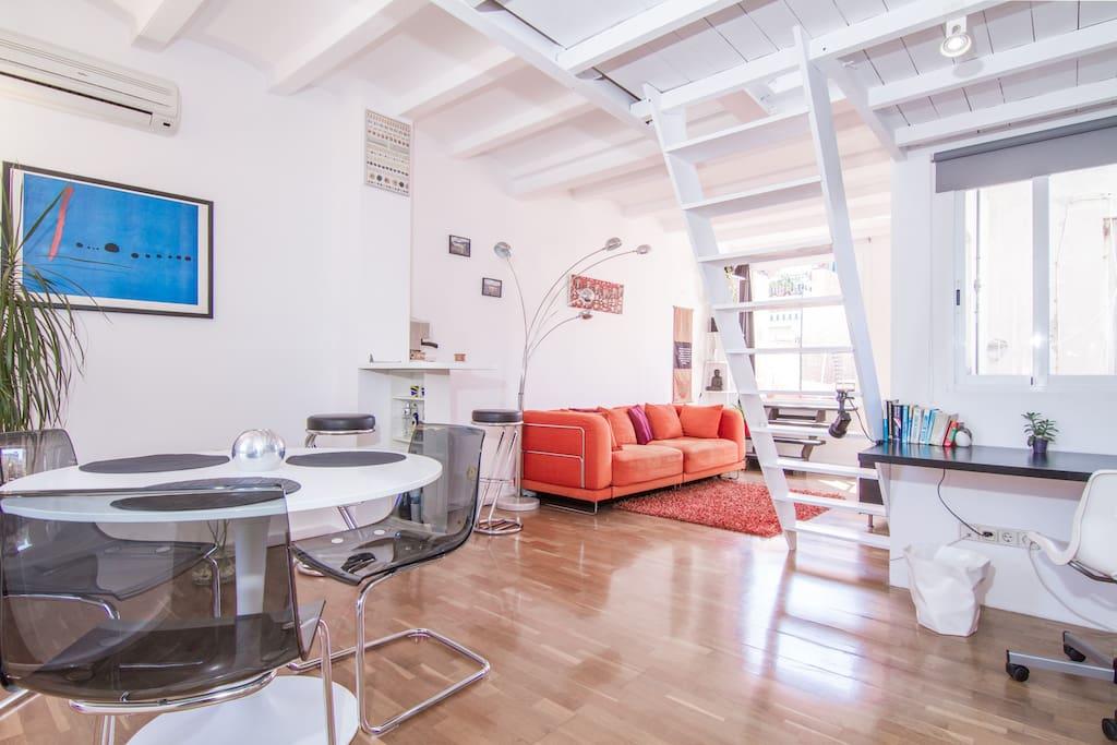 Loft avec terrasse en centre ville appartements louer - Chambres d hotes barcelone centre ville ...