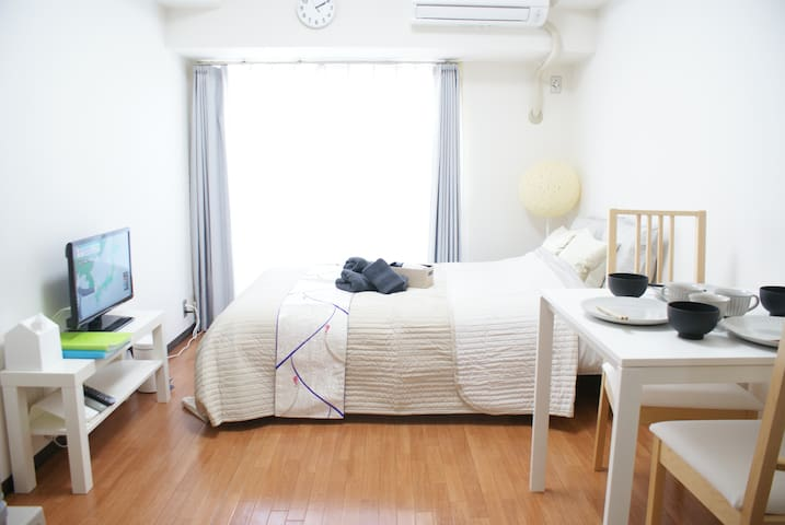 Feel KYOTO 1min away from Sta+Free WIFI TV - Shimogyo Ward, Kyoto - Apartemen