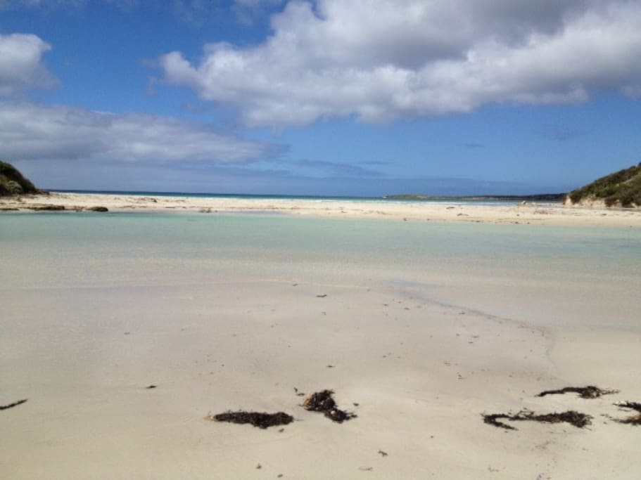 At the mouth of the Harriet River, Vivonne Bay - Kangaroo Island