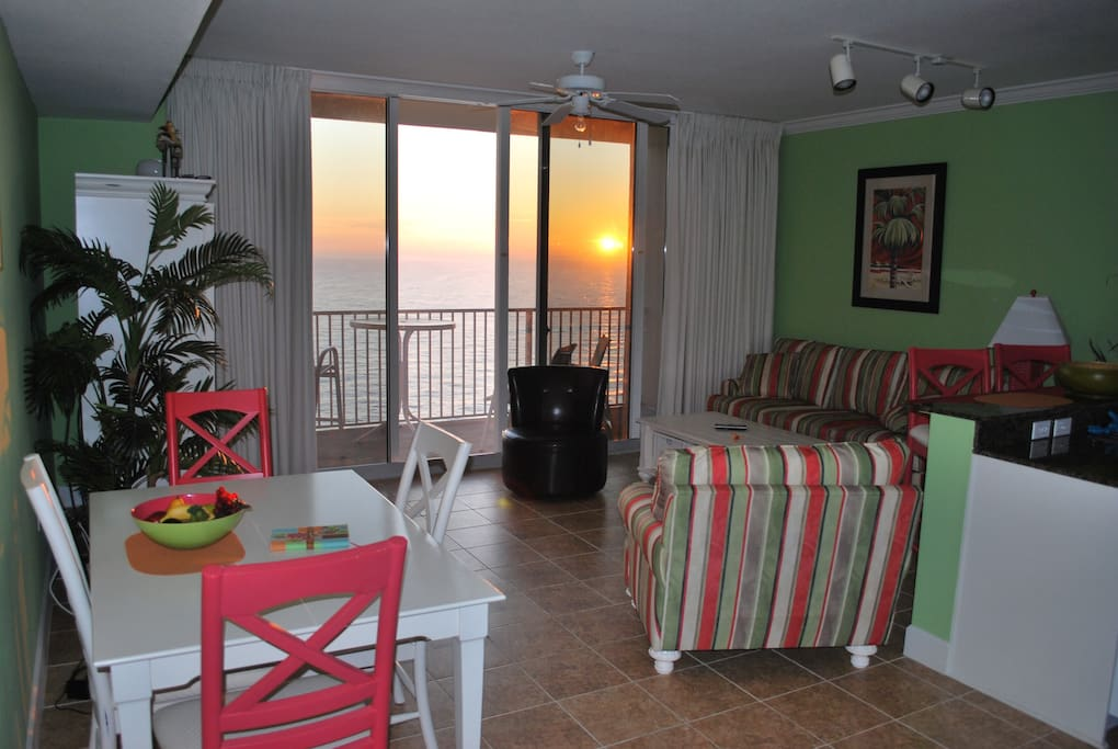 Watch the sunsets from the comfort of your living room!!