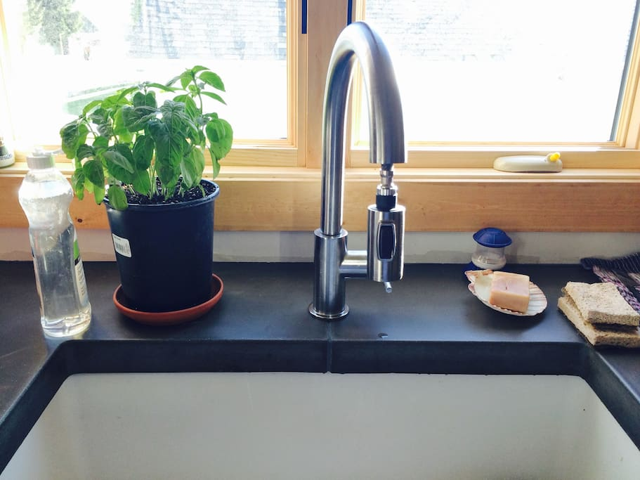 Nice sink and countertops