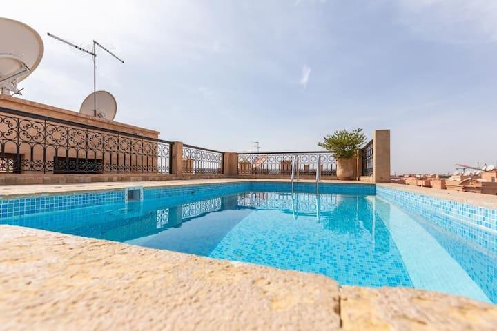 Appartement haut standing avec piscine