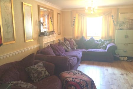 Tiny room, double bed/fast connections to cental - London - Ház