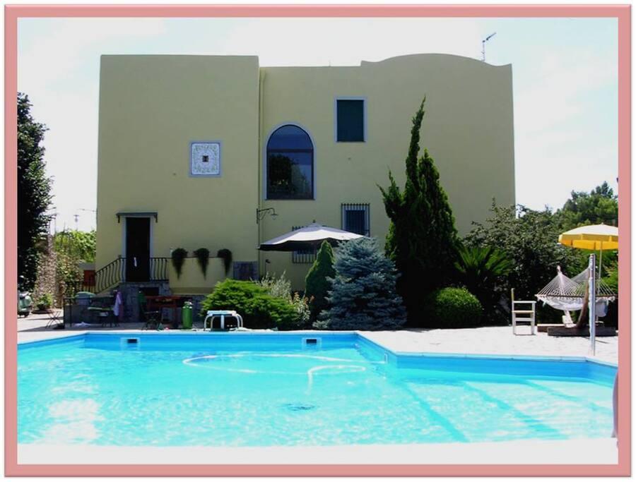 Pool and rea garden