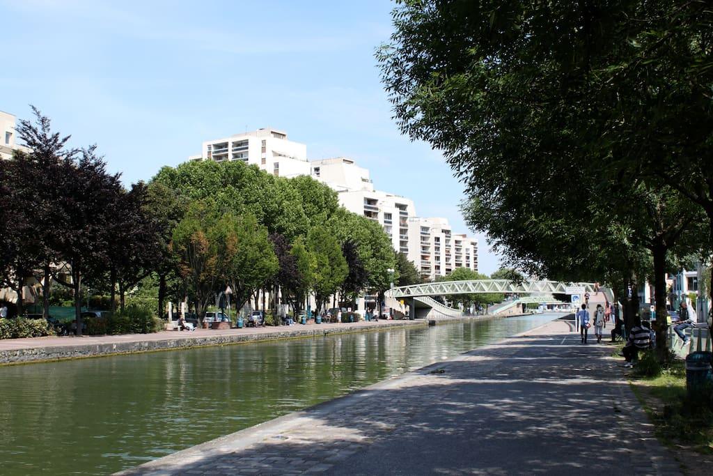 promenade canal de l'ourq
