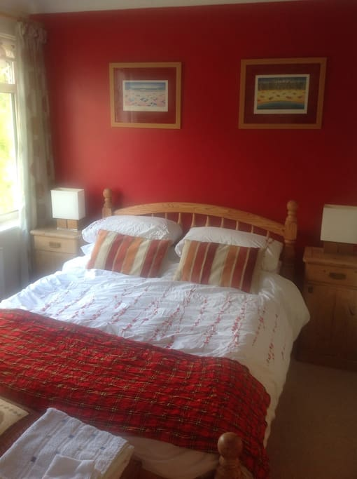 Large double bed.