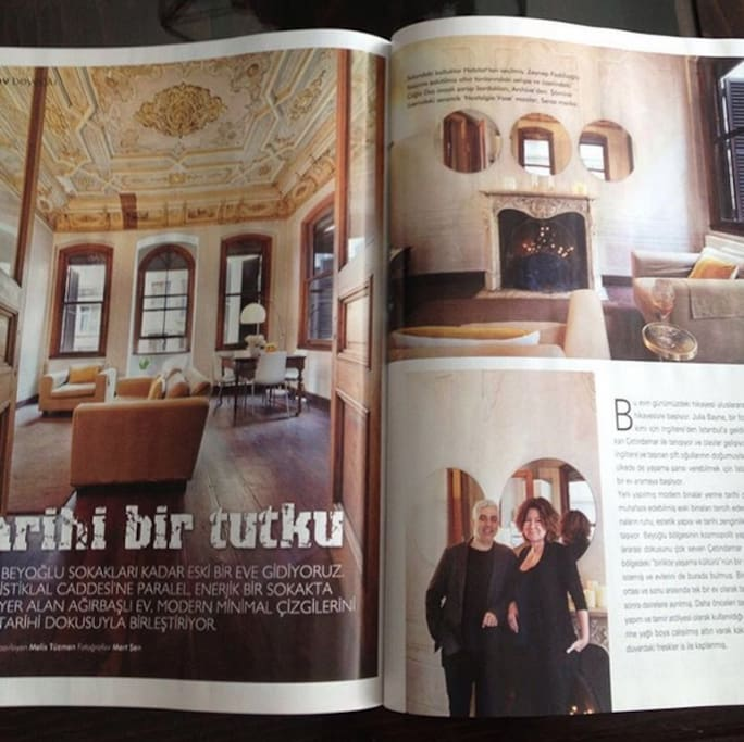 Recent magazine feature about the apartment, Tarkan and Julia