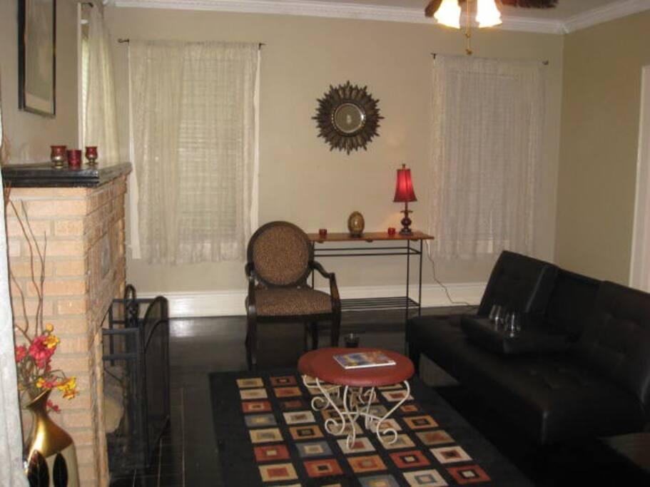 living room view from front door