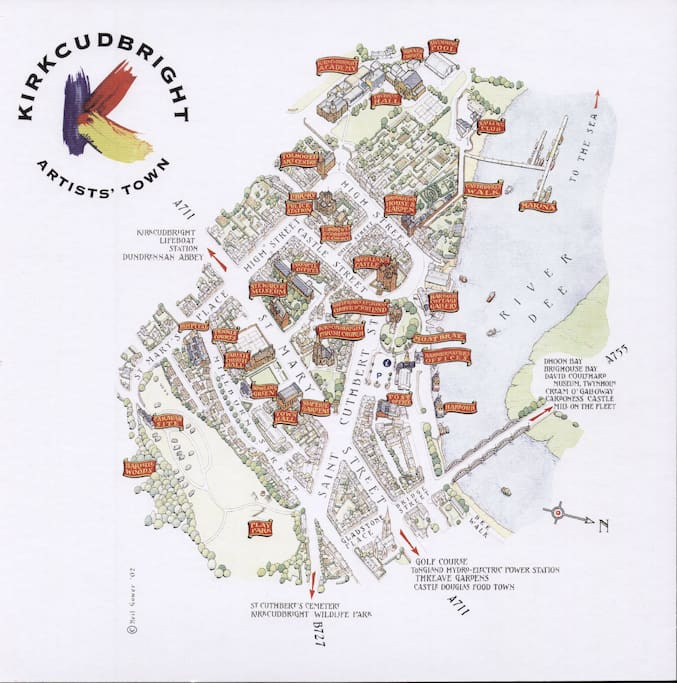 An Artists' Map of Kirkcudbright