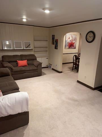 Nice spacious living room.