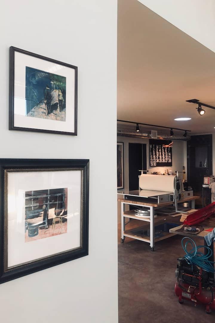 view of print studio