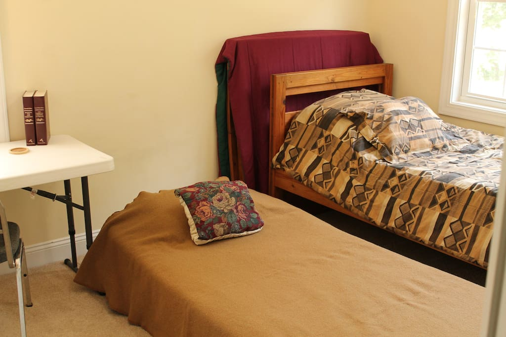 Optionally, to accommodate more people the Dorm Room bed has a trundle bed that stores underneath.