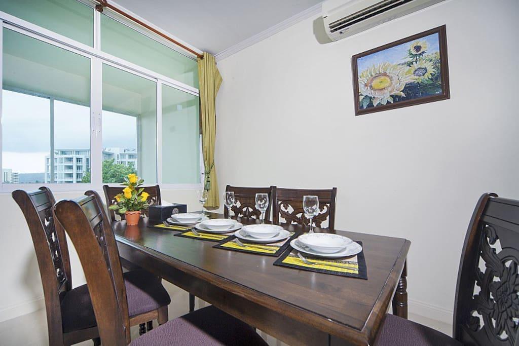 dinner area on the 2nd floor