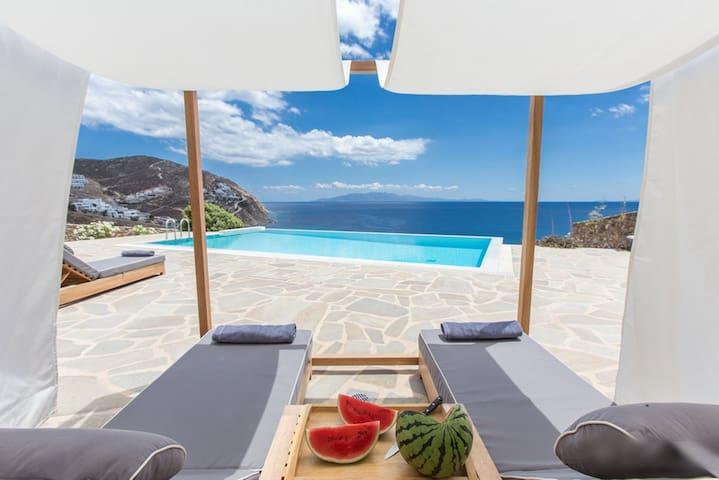 Villa Ambra by the sea - Platis Gialos - Villa
