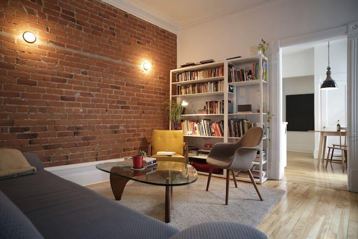 Some classics here: furniture, books and brick.