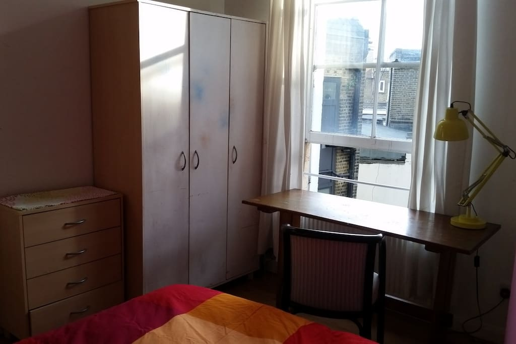 Spacious wardrobe & chest of drawers