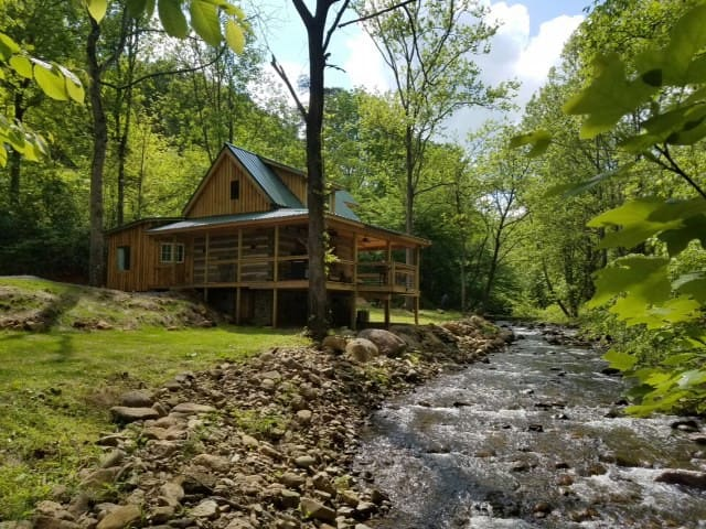 Secluded Log Cabin on the River
