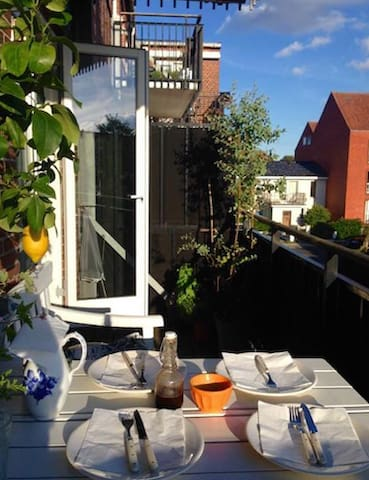 A nice apartment with balcony close to CPH - Charlottenlund - Appartement