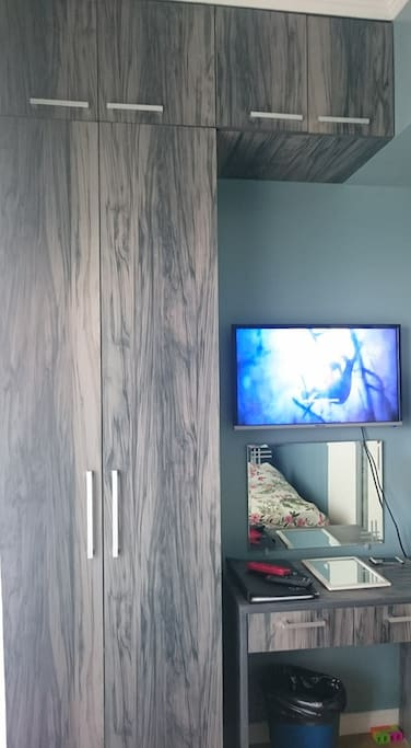 closet and TV