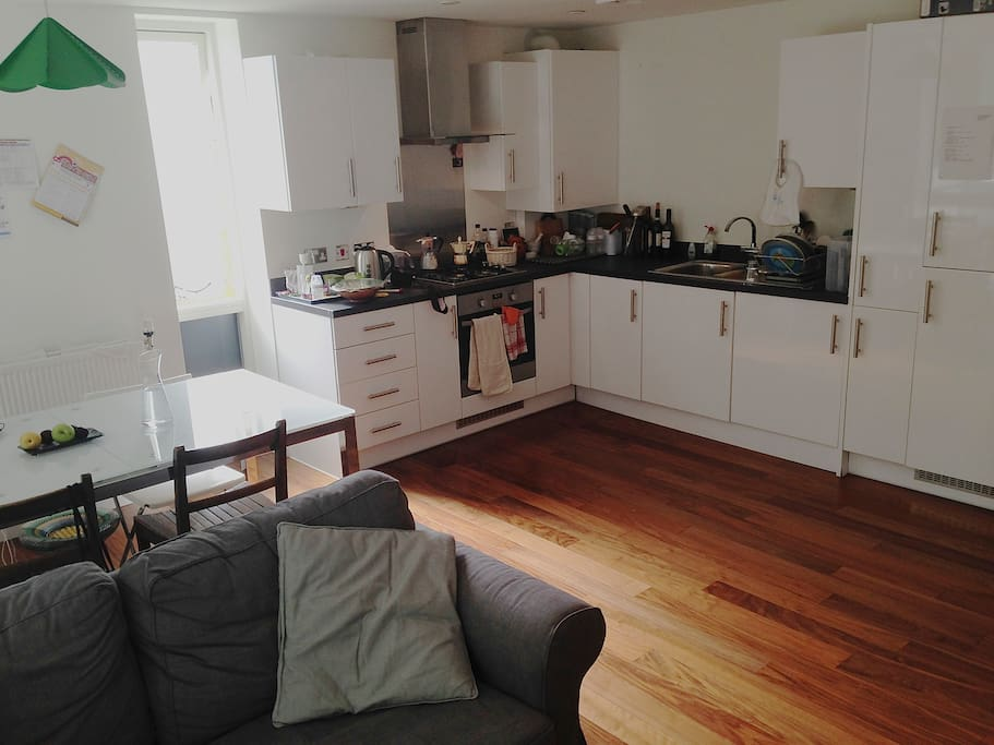 Open modern fully equipped kitchen