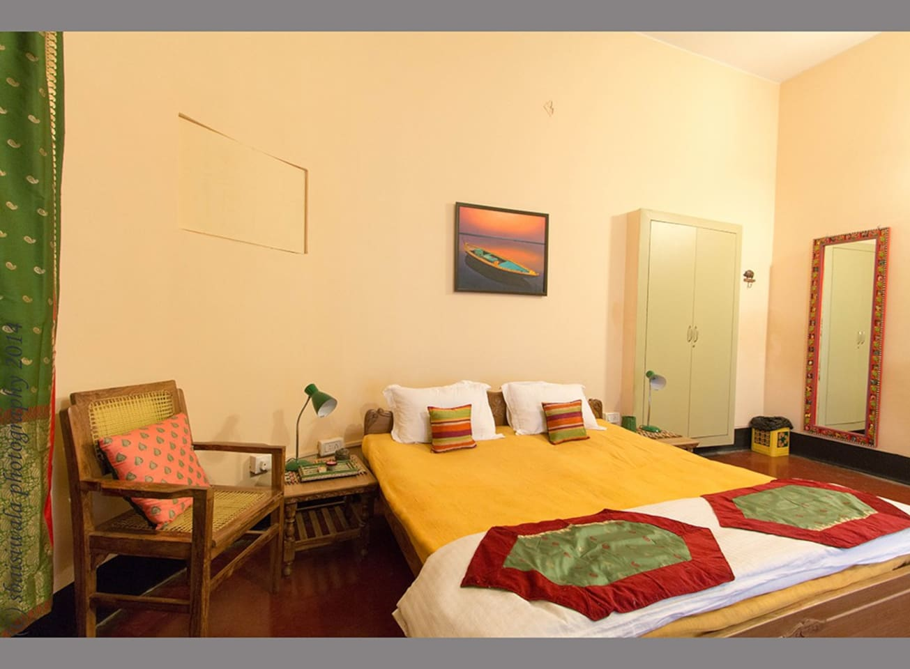 Our cozy room near the ghats