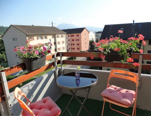 Beautiful apartment with balcony near Lucerne